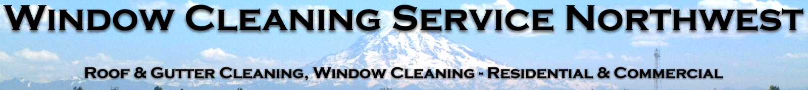 Window Cleaning Services Northwest
